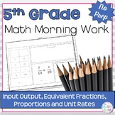 5th Grade Rates and Proportions Spiral Review