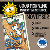 Morning Work - Interactive Notebook November (20 days)