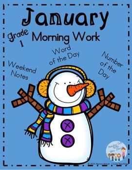 Morning Work January Grade 1