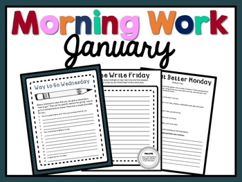 Morning Work - January