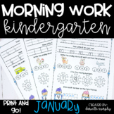 January NO PREP Kindergarten Morning Work