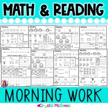 Morning Work! January Winter Kindergarten Common Core Daily Review