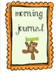 Morning Work Journal - Bears - Various Colorful Covers & Pages Available