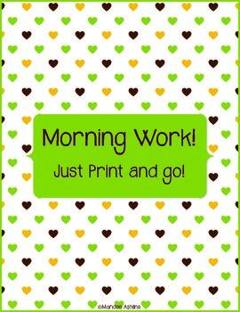 Morning Work - Just Go! 4 weeks