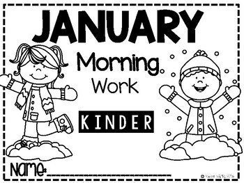 Morning Work-Kindergarten January