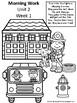 Morning Work - Kindergarten Unit 2 Week 1-3: Wonders