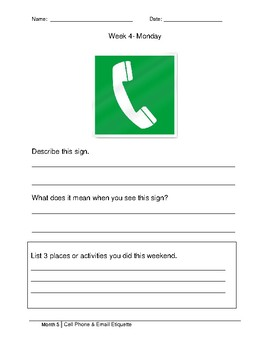 Morning Work- Cell Phone and Email Etiquette