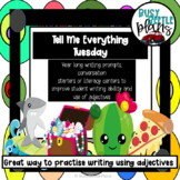 Morning Work, Literacy Centers, Adjectives - Tell Me Everything Tuesday