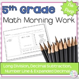 5th Grade Decimal Review Morning Work