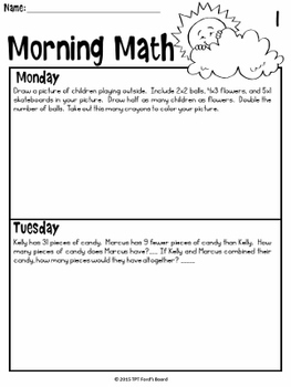 3rd Grade Morning Work - Free First Week Sample