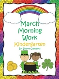 March Morning Work  - Kindergarten