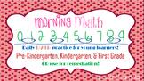 Morning Work Math