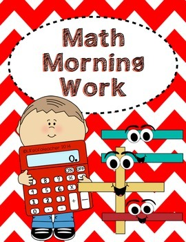 Morning Work *Math* -- Apple Themed