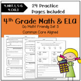 4th Grade Morning Work Math and ELA-SET 3