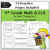 4th Grade Morning Work Math and ELA-SET 1