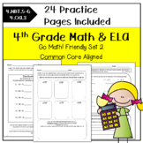 4th Grade Morning Work Math and ELA-SET 2