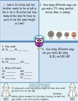 Morning Work Math Freebie