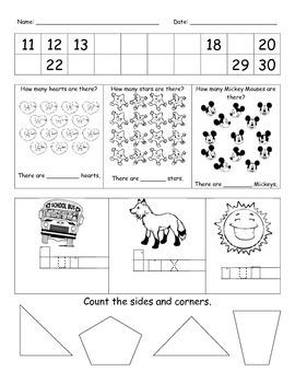 Morning Work - Math, Phonics