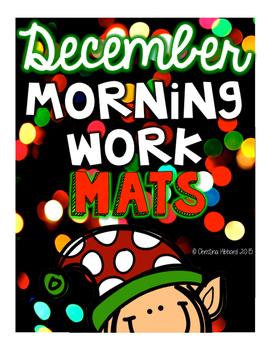 Morning Work Mats December (FREEBIE)