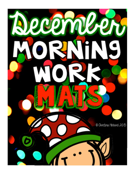 Morning Work Mats December (FREEBIE)
