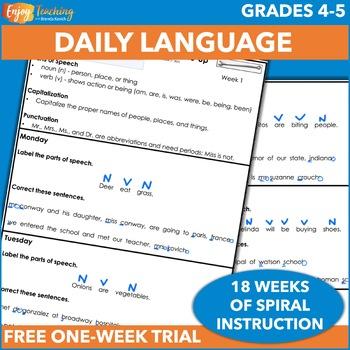 Morning Work - Daily Language FREEBIE
