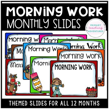 Morning Work Monthly Slides