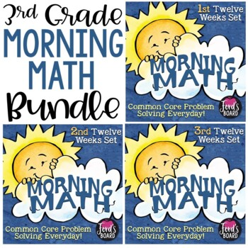 Math Problem Solving Morning Work Bundle