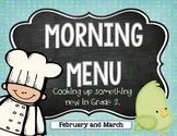 Morning Work:  Feb. and Mar. 2nd Grade