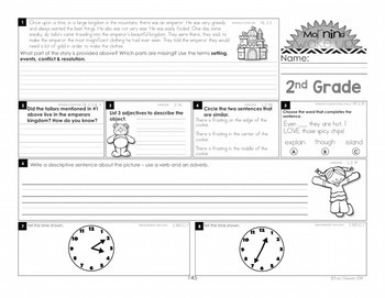 Morning Work - Morning Wake Up 2nd Grade Common Core ELA and Math UNIT 3