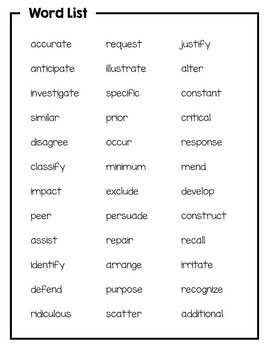 3rd Grade Academic Vocabulary: Daily activities to boost academic ...