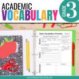 3rd Grade Academic Vocabulary: Daily activities to boost a