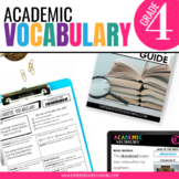 Academic Vocabulary for 4th Grade Morning Work or Word Work