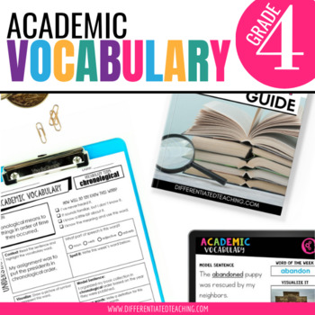 4th Grade Academic Vocabulary: Daily Activities to boost academic language