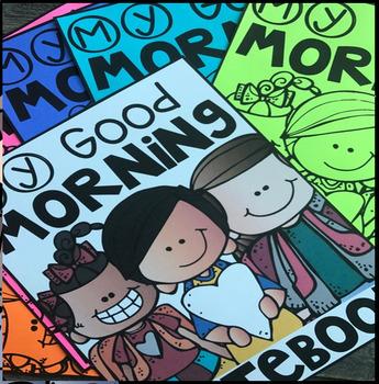 Morning Work Notebook Freebie for Kindergarten