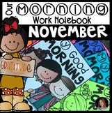 November Morning Work Notebook Unit 3 Kindergarten