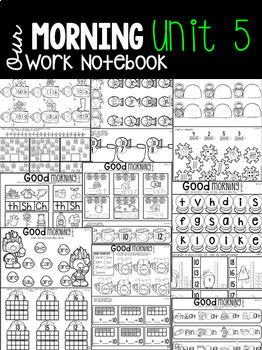 January Morning Work Notebook Unit 5 for Kindergarten
