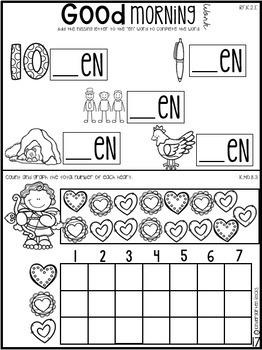 February Morning Work Notebook Unit 6 for Kindergarten