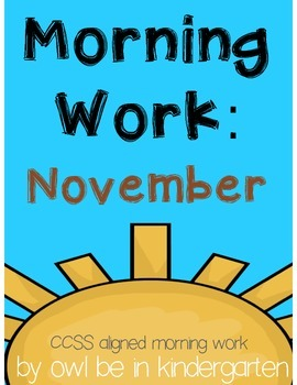 Morning Work: November