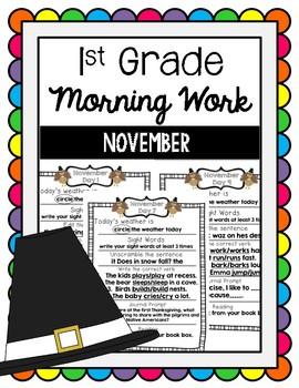 Morning Work November