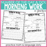 Morning Work: Number of the Day and Daily Fix It FREEBIE