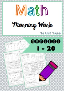 Math Morning Work: Numbers 1 - 20