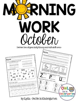 Morning Work: October