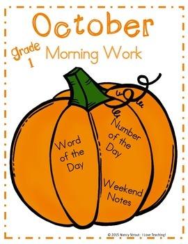 Fall~October~Morning Work~Grade 1