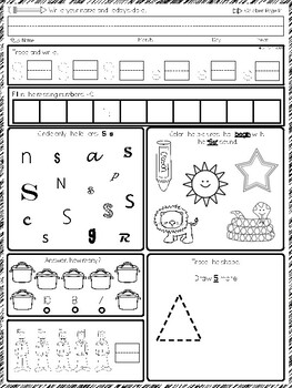 Kindergarten Morning Work October Pack #Spirales #40pages