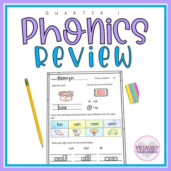 Phonics Worksheets Morning Work Letters Sounds and Short Vowels Review