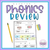 Phonics Worksheets Letters Sounds and Short Vowels Review