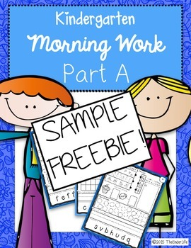 FREE Preschool Kindergarten Morning Work