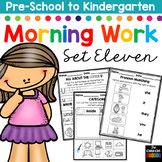 Morning Work: Preschool to Kindergarten - Set Eleven