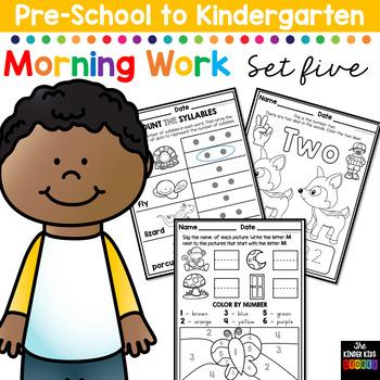 Morning BOOSTER Work: Preschool to Kindergarten - Set Five