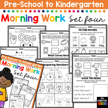 Morning BOOSTER Work: Preschool to Kindergarten - Set Four